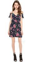 Fashion New 2014 Sexy Summer Dress Flower Plus Size Women Casual Dress Free Shipping HDY-17