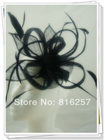 Free shipping  multiple color high quality fascinators/nice wedding accessories/ sinamay hats/cocktail hats FS108