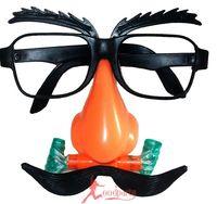 Dayses funny glasses fake beard clown supplies belt blindages