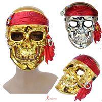 Masquerade halloween supplies pirate mask of skull mask