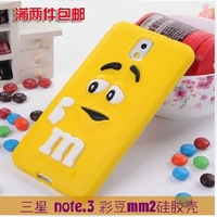 For galaxy note 3 Cases Rubber Silicone Cartoon Case Covers For Samsung galaxy note 3 N9000 Cover Shell Free Shipping
