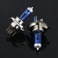 1 Pc Halogen Xenon Low Beam H4 12V 55W P43T Super White Light Bulbs 6000K