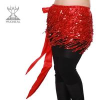 2014 New Indian Dance Waist Chain Tassel Sequins Belly Dance Belt,8 Colors TP 099