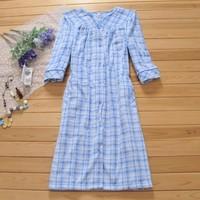 Autumn and winter women short plush loose plus size mm plaid robe bathrobes lounge o14