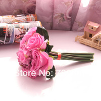 7 head flower bride bouquet roses hands with artificial flowers - 5 color/free shipping