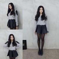 Spring 2014 HARAJUKU sweatshirt female autumn and winter school wear one-piece dress juniors clothing honey