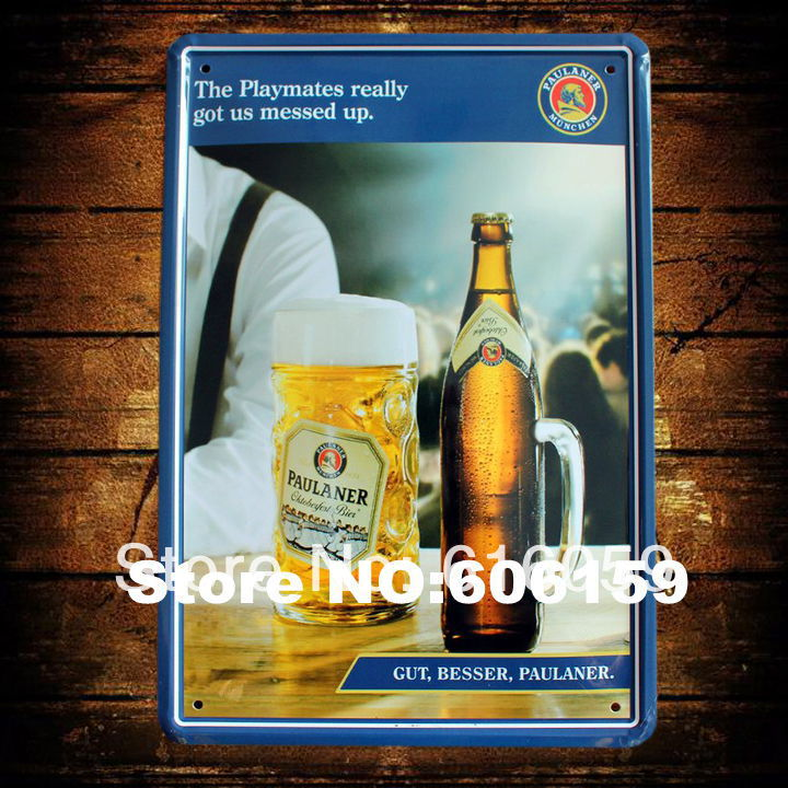 Do it ] PAULANER Beer Bar Metal Plaque Bar Wholesale Vintage Metal ...