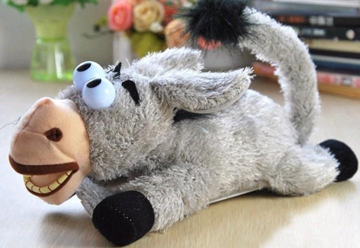Rolling & Laughing Donkey Plush Animal Electronic Toy(China (Mainland))