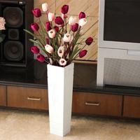 Bucket indoor decoration flower art artificial flower set floor vase artificial flower