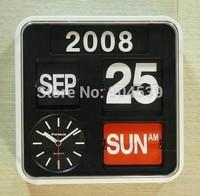 Wholesale 4 Pcs/Lot 24cm High Quality Taiwan Fartech Auto Flip Wall/Desk Clock/Watch, Decorative Clock for Modern House