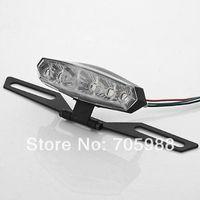 6 LED Tail Light License Plate Holder Bracket For Kawasaki Dual Sport Motorcycle tail light tail lamp