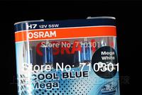 Free shipping fee!! Car headlight OSRAM halogen lamp COOL BLUE MEGA 62210CBM H7 55 W 12V 4500K, Made In CHINA OSRAM