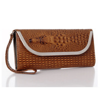 Free shipping Fashion brand wallet women crocodile grain long pattern wallet the clutch bags patent leather-QB1008