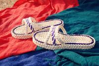 2014 New Fashion Women's Summer Green Fashion Slides Slipper Pure Sandals Natural Corn Husk Handmade Eco-friendly Hotsale Stock