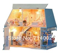 Free shipping Happiness of Sunshine Island,  Wooden house model,Large dollhouse ,Fashion gifts
