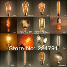 Free shipping1900 Antique Vintage World Edison light Bulb 40W 220V 16 tayes Tube filament Tungsten(China (Mainland))