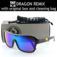 2014 New Oculos De Sol Top Quality Brand Dragon Remix Sunglasses Men Women Designer Sports Coating Sunglasses Cycling Eyewear