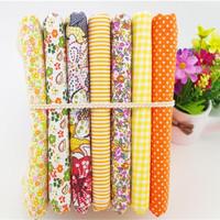 2014 new orange baby cloth cotton patchwork fabric tidla quilt home textile DIY material 45*50cm 7pcs/lot ZJ