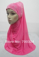 H718 latest muslim hijab with rhinestones ,muslim scarf,fast delivery,assorted colors