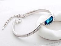 Elegant temperament bracelets multi-color Austrian crystal bracelet - glass shoes bangles