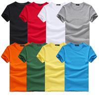Slim male 2014 male short-sleeve t shirt male short-sleeve T-shirt male solid color basic shirt male
