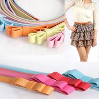 2014 New arrival Fashion Bowknot Faux leather belts for women female belts GC2