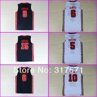 Free Shipping 1992 Dream Team Jerseys Olympic Jordan 7 Larry bird white black retro throwback vintage Basketball jersey USA 2012