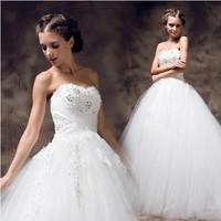 top wedding dresses Tube top new 2014 spring and summer rhinestone lace princess  wedding dress