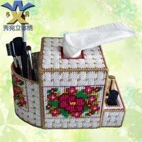 Unfinished Three-dimensional embroidery 3d cross stitch new arrival dressing box tissue pumping box diamond print