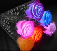 Foliage simulation Lantern Chinese Valentine's day gifts will never die rose flowers colorful night light