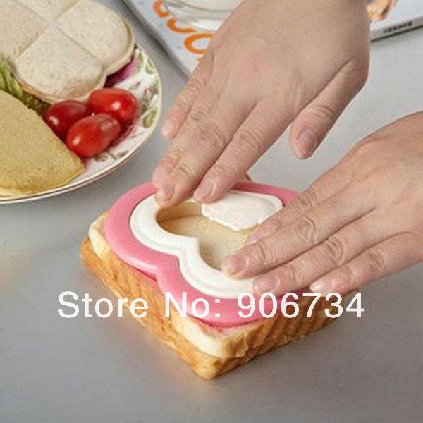 transporte livre novo nova chegada sanduicheira pão molde design em forma de coração para casa e bar(China (Mainland))