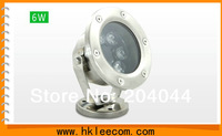 4pcs/lot led underwater lamp 6w rgb .white color,DC12V/24V led flood  IP68 CE ROHS and 3 years warranty time