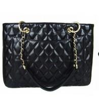 2014 Hot black new big European and American woman Lingge chain shoulder bag diagonal package briefcase handbag