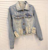 2014 new slim style women's Denim jeans jacket women the female jackets women 's down jeans coat Jackets for women  S-L 920