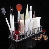 Fashion Clear Eyeliner Sample Cosmetic Organizer Storage Box Case 12 Slots Free Shipping