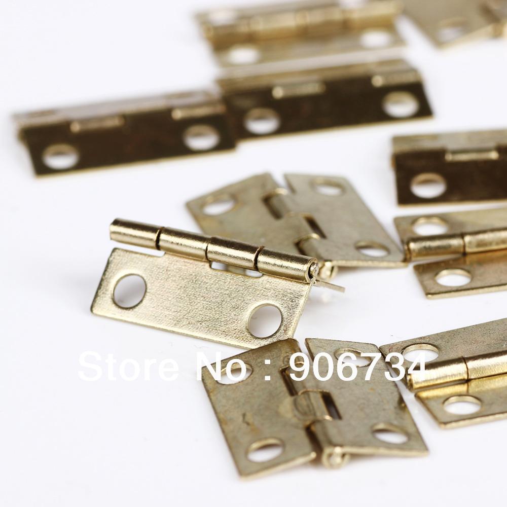 New Free Shipping 20Pcs/Set Wholesale Door Butt Hinge Mini Iron Hinges Cabinet Drawer(China (Mainland))