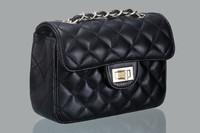 2014 Hot mini new big European and American woman Lingge chain shoulder bag diagonal package briefcase handbag 9 color