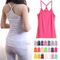 Free Shipping ! Sexy Ladies Multicoloue Long Sleeveless Bodycon Temperament Cotton T-shirt Tank Top Women Y Vest Tops 180-0005