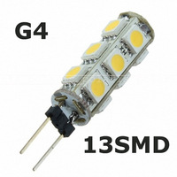 100pcs Energy Saving Warm White G4 13 5050 SMD LED 13smd 13led Car RV Boat Light Lamp Bulb 12v #i