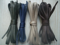 UPS free shipping ,  wax lace , flat, Beige dark blue, 100prs/lot, 6mm martin boots laces shoelace waterproof 90-120cm