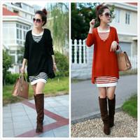 Twinset women's 2014 spring knitted basic shirt long-sleeve slim hip slim one-piece dress