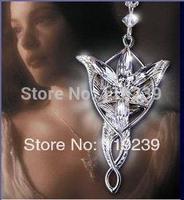 KN145 Hobbit Elves Princess Aragorn Arwen Evenstar Pendant Necklaces Collier Gothic Style Women Accessories Jewelry Bijoux Items