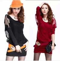 Spring 2014 spring and autumn female spring dress one-piece dress women's fashion plus size casual twinset basic skirt