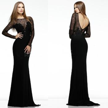 Black Full Length Formal Dresses
