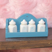 Free Shipping Doll house mini rement dollhouse seasoning rack belt spice jar