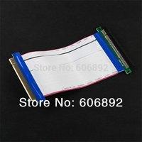 Free shipping 2pcs/lot PCI Express PCI-e 16X Riser Card Extender Ribbon Cable drop shipping