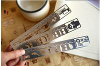 Free ship 1lot=10pcs/Korean stationery kawaii cute metal new fashion Western cowboy series - bookmark ruler Graphics' creative '