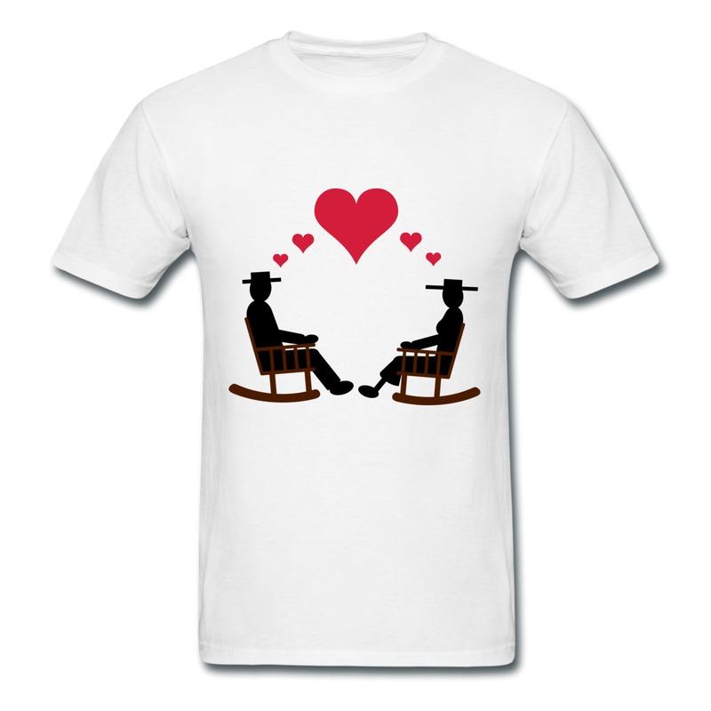 Shirt Man Casual Hearts Rock Design Own Short-Sleeve Tee Shirts for Boys(China (Mainland))