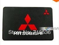 Car Logo latex non-slip Mat For Mitsubishi Lancer Sportback Evolution ASX RAR Outlander Pajero L200