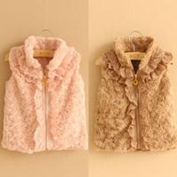 2014 autumn and winter turtleneck girls clothing baby child vest vest wt-1507